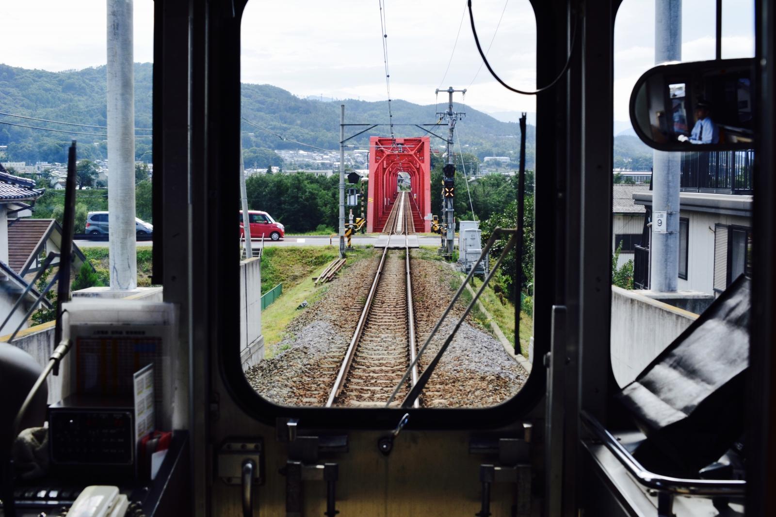 別所線 赤い鉄橋