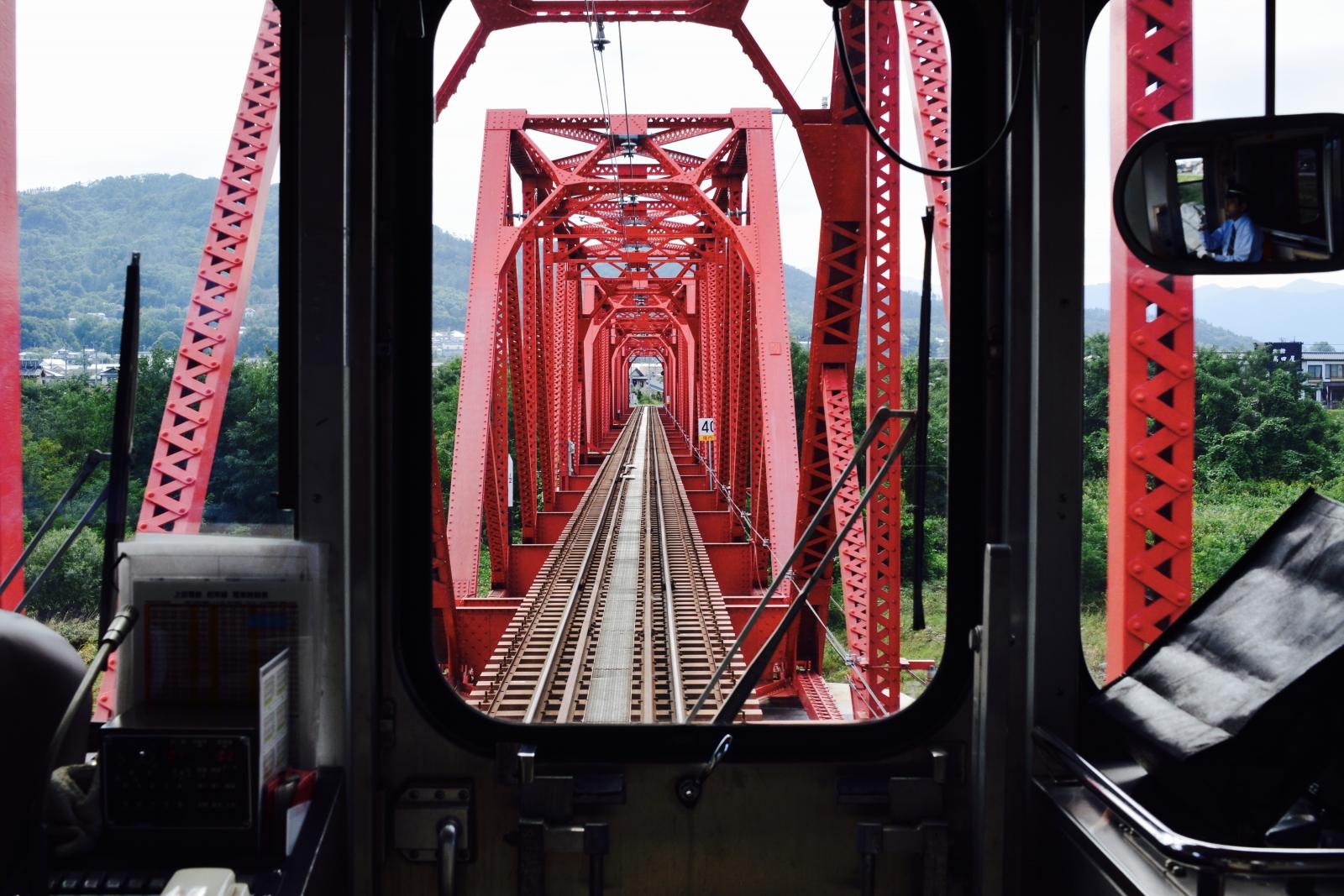 別所線 赤い鉄橋3