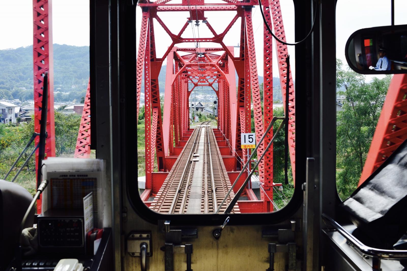 別所線 赤い鉄橋2